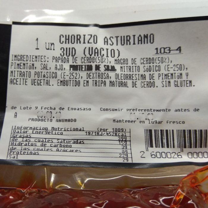 Chorizos Asturianos fabada