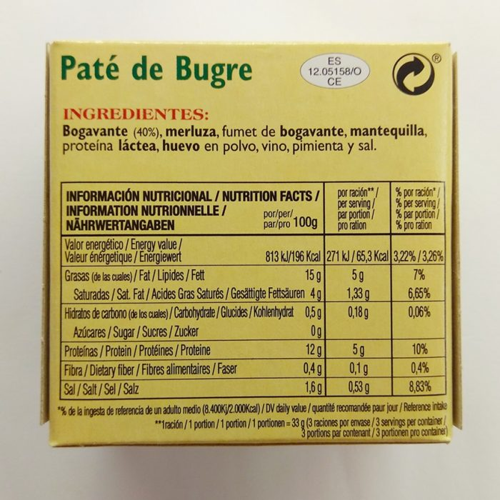 Paté asturiano de Bugre