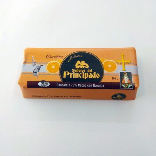 Chocolate asturiano con naranja