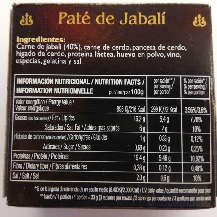 Paté asturiano de Jabalí