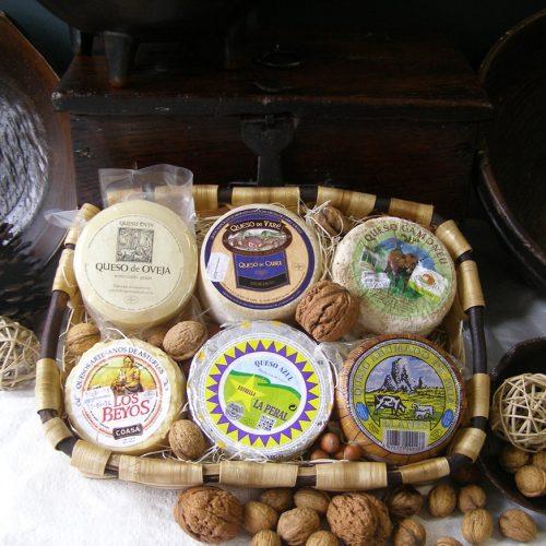 Cesta de quesos de Asturia